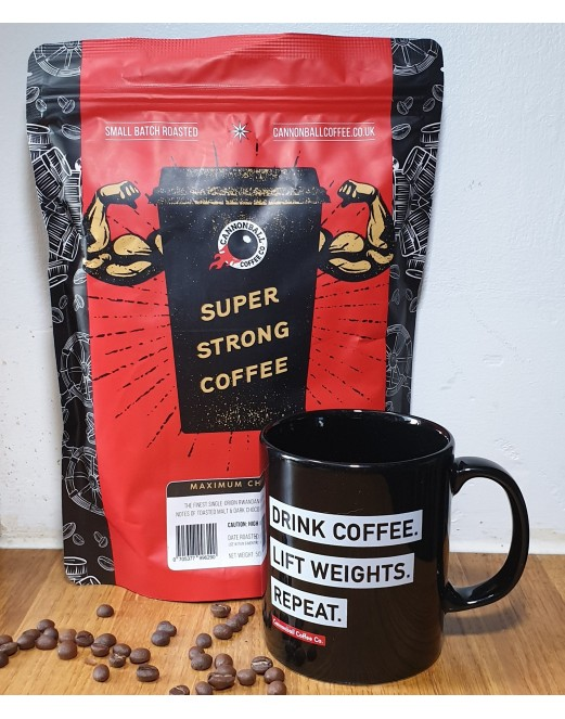 500g Max Charge + Drink Coffee Lift Weights Mug